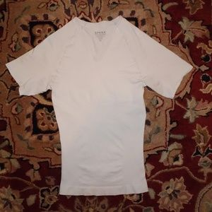 Spanx V-Neck Compress T-Shirt | White | XL